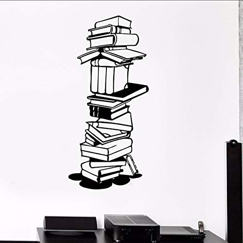hmbare Wandaufkleber Vinyl Libary Bücher Wand Buchladen Kunst Wandbild Libary Dekoration Studenten Lesen Aufkleber ()