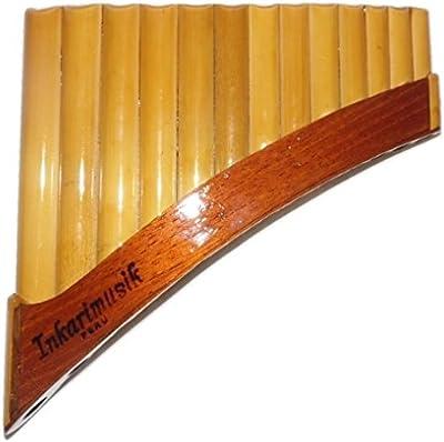 Flauta de Pan (bambú, Antara, 13tubos fabricado en Cusco–Perú | color natural–incluye funda