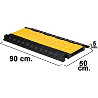 Wolfpack 15050480 Pasacables para Suelo con 5 Canales, 90 x 50 x 5 cm