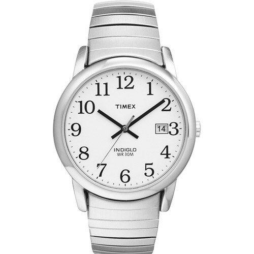 Timex Herren-Armbanduhr Weiß Analog Edelstahl T2H451D7 (Timex Zurück)