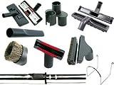 Centrale Accessoire Aspirateur Kit 9pièces Brosses avec Manche Télescopique-32mm