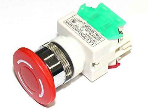 Rotek Not-Aus Schalter/Taster (rastend) für Schaltschrankeinbau - 1 Öffner und 1 Schließer