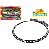 Rail Train On Tracks Toy Play Set - Hours Of Fun Building A Railroad Of His Own Kind - Delivering Passengers To...