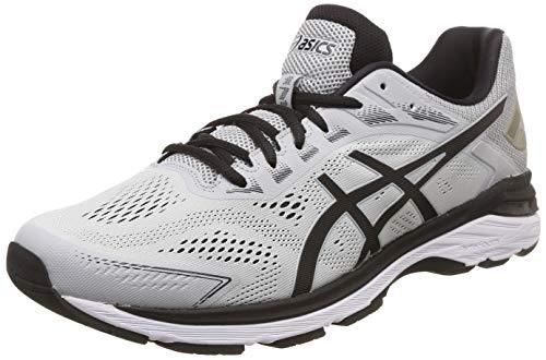 ASICS Men's Gt-2000 7 Mid Grey/Black Running Shoes-9 UK/India (44 EU) (10 US) (1011A158.021)