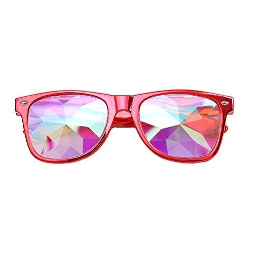 LeeY Unisex Mode Kaleidoskop Sonnenbrille Integriertes UV Cat Eye Sunglasses Damenbrillen...