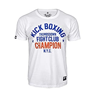 Thumbs Down Homme T-Shirt. Kick Boxing. Fight Club. N.Y.C. Martial Arts. Casual (Taille Medium)