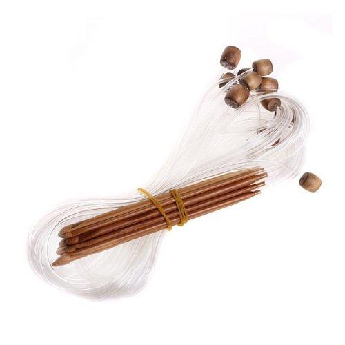 Agujas ganchillo bambú carbonizado tunecino afgano