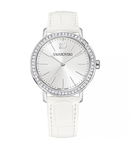 Swarovski Damen-Armbanduhr Analog One Size, Silberfarben, weiß