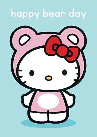 Bonjour Kitty ours heureux jour carte de voeux
