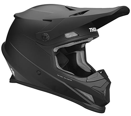 Thor Crosshelm Sector MX Enduro Motocross Helm schwarz matt Gr. XXL (Erwachsene Thor Helm)