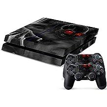 Calcomanía de vinilo Funda protectora Piel adhesivo para consola Sony PS4 y controladores Dualshock 2 calavera estilo