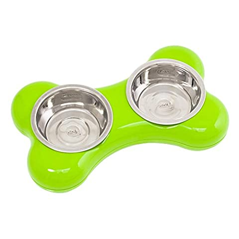 Elite Dog Stands Hing Hundebar Knochen Design (Small) (Grün)