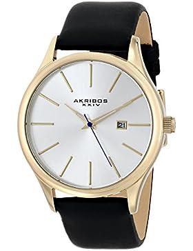 Akribos XXIV Herren-Armbanduhr Essential Analog Quarz AK618YG
