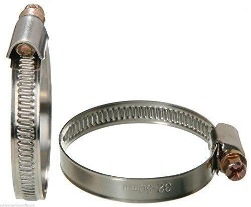 SBS Fascette stringitubo 10 Pezzi Acciaio INOX INOX Larghezza di banda 9mm 80-100 mm W2 anti ruggine