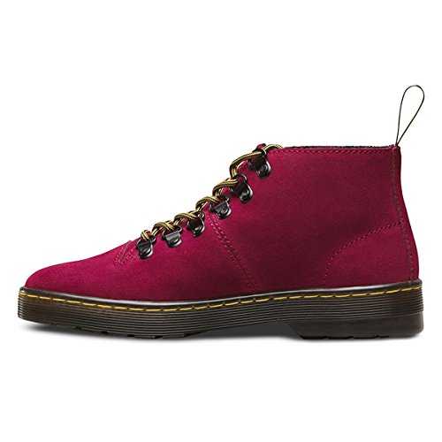 Dr.Martens Womens Lahava 6 D-Rings Suede Boots Rouge
