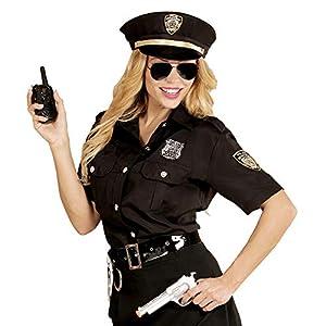 WIDMANN 67652adultos Disfraz Agente de Policía, mujer, Negro/Azul