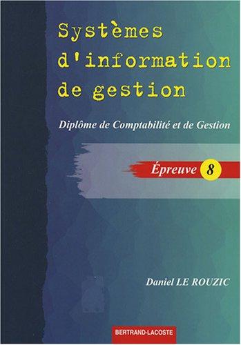Systèmes d'information de gestion DCG8
