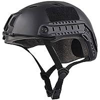 haoyk multifunción Deporte casco protector casco táctico para Airsoft y Paintball Bj tipo rápido casco, negro