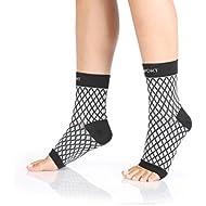 Plantar Fasciitis - Manga de compresión para pie - Alivio de la inflamación - Arco de soporte para correr, deportes y el uso diario - Mejora la circulación sanguínea - (1 par)