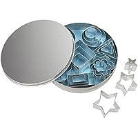 RAYHER 8619800 Metall-Ausstecherformen-Set, 2-4 cm, 8 Sorten, Set 24 Stück