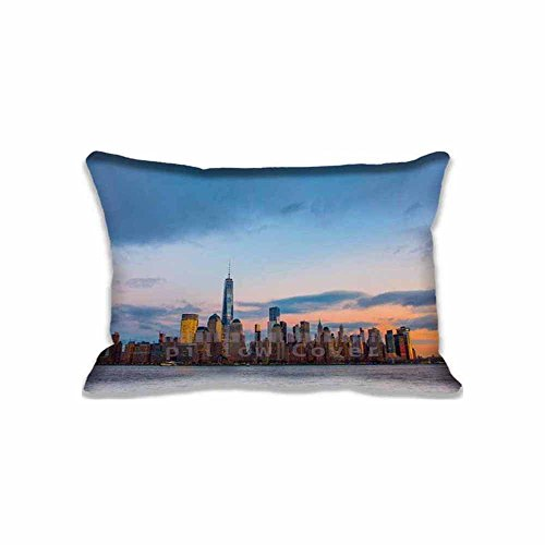 New York City Skyline Pillowcase Covers King Size Decorative Pillow Protector Covers For Sofa 20x30inch(Twin Sides)