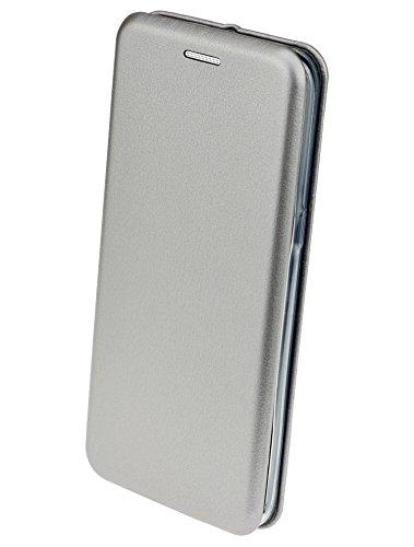 iPhone X - Premium Book Style Tasche Klapp Hülle Wallet Case Cover mit Kartenfach und Standfunktion in pink silber