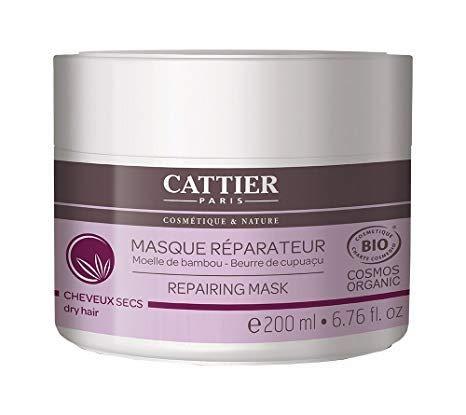 Cattier - Masque capillaire réparateur cheveux secs 200Ml Bio - Livraison Gratuite Pour Les Commandes En France - Prix Par Unité