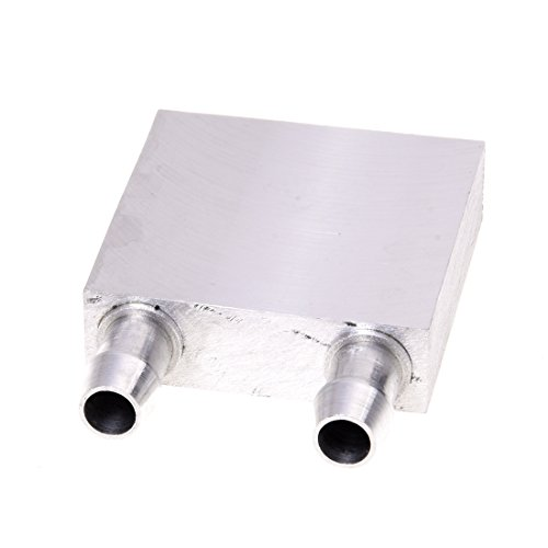 SODIAL(R) 40x40x12mm Wasserkuehlblock fuer CPU Grafik Kuehler Kuehlkoerper
