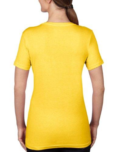 anvil - Anvil Women's Sheer V-Neck Tee, T-shirt da donna giallo (Yellow (Lemon Zest))