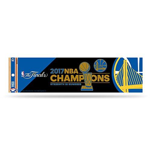 NBA Golden State Warriors 2017Basketball Champions Bumper Aufkleber, 27,9cm von 7,6cm, Royal Blau, Gold -