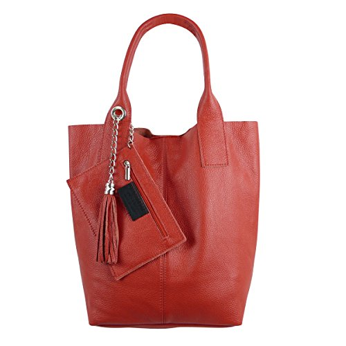 FreyFashion - Made in Italy, Borsa tote donna Rot2