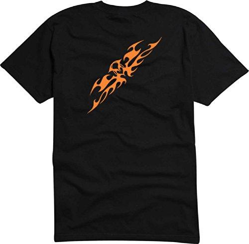 T-Shirt Herren Flammenangriff Schwarz