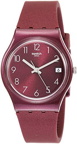 Swatch Damen Analog Quarz Uhr mit Silikon Armband GR405 - Swatch Von Uhren