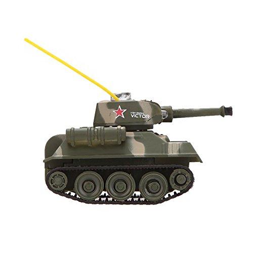 Mini RC Spielzeug - SODIAL(R)777-215 Tank-7 Mini RC Tiger Tank RC Spielzeug mit 27MHz Sender