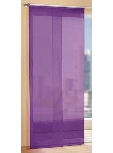 Gardinen Set, 2 x Flächenvorhang Schiebegardine mit Zubehör, Lila