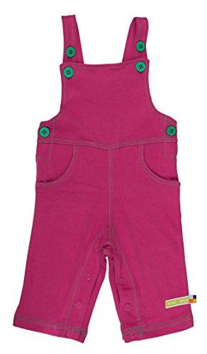Loud + Proud Unisex - Baby Latzhose 465, Einfarbig, Gr. 68 (Herstellergröße: 62/68), Violett (Fuchsia Fu)