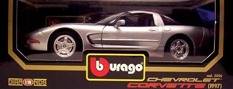 Burago 1/18 Scale - 3056 1997 Chevrolet Corvette Hardtop red