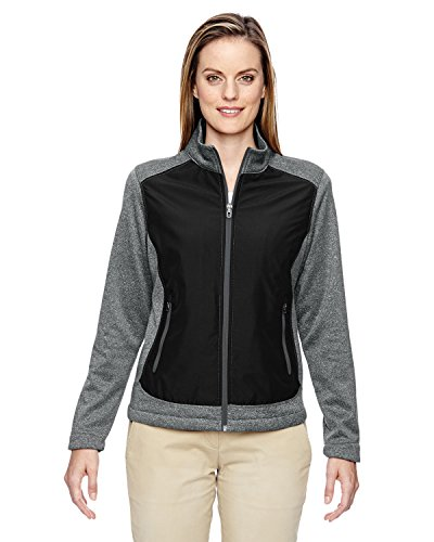 Ladies' Victory Hybrid Performance Fleece Jacket BLACK 703 3XL -