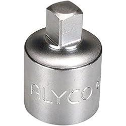 "'Alyco 192605–Adapter 1/4""auf 3/8Une 16511DIN 3123CR-V Chrom matt"