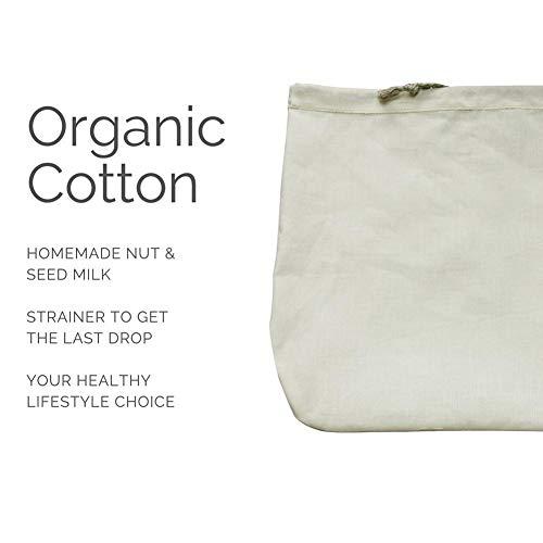 NAKELUCY Nussmilchbeutel, Wiederverwendbare Einkaufs- und Einkaufstüten aus Baumwolle, umweltfreundliche Gemüsetüten aus Bio-Mesh für den Einkauf, mit Leergewicht auf den Etiketten