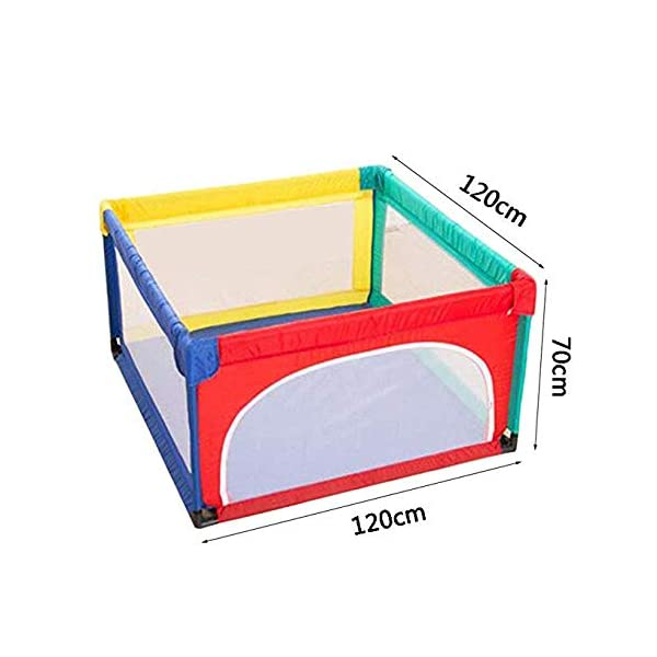 TOY Child Playpen, Kids Activity Center, Kids Safety Play Center Yard, Home Indoor Fence, Anti-Fall Play Pen, Fabric Indoor Child Playards, Anti-Skid,120 * 120cm TOY ◆Liberate Mom's Hands: Effectively help your child explore the world of perception, keep your child away from harm, and mothers can free their hands to do their own things.(Note: The package has only 1x children's fence.) ◆Large Space Design: 120x120cm, 120x150cm, 150x150cm, 150x190cm, 180x190cm, 200x250cm (6 sizes, available for you to choose from). Please refer to the dimension drawing for details. It provides a safe space for your child to play so that your little one could move around freely. ◆Spacious Area:The height of the fence is long enough for the child to stand and walk while the area inside the yard is plentiful for them to explore around. Make it fun for children to play and learn with enough room for all baby's essentials 2