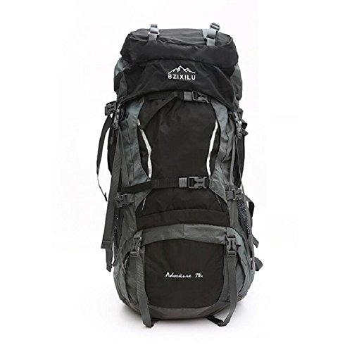 LF&F Backpack Hochwertiges Nylon GroßE KapazitäT 70L Unisex Profi Outdoor Sport Bergsteigen Rucksack Camping Wandertasche Rucksack Klettern GepäCk Tasche E