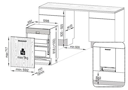 Beko DIN28330 Geschirrspüler Vollintegriert / A+++ / Tray Wash / ProSmart Inverter Motor / AquaFlex Programm /  30 Minuten Kurzprogramm  /  Watersafe+ / SoftTouch Weinglaskorb /  SteamGloss / Zusatzfunktion Halbe Beladung -