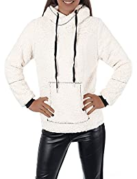 P192 Damen Hoodie Pullover Jacke Kapuzenpullover Sweatshirt Sweatjacke Teddy
