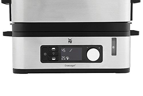 WMF KÜCHENminis Dampfgarer (2 individuell regulierbare Garräume mit je 2,15 Liter, Warmhaltefunktion und Aromaverstärker)