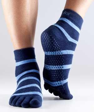 Zehensocken Full Toesox Blie Blue Stripe XS