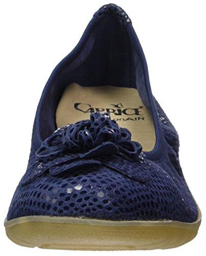 Caprice 22153, Ballerines Femme Bleu (Ocean Reptile)