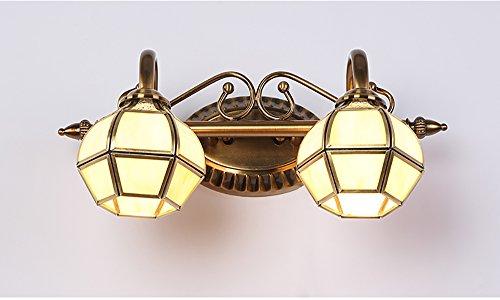 Flashing- LED-Spiegel-Licht-Wand-Licht European American Retro minimalistische Badezimmer Rasierspiegel Kabinett Lichter (Anti-fog-rasierspiegel)