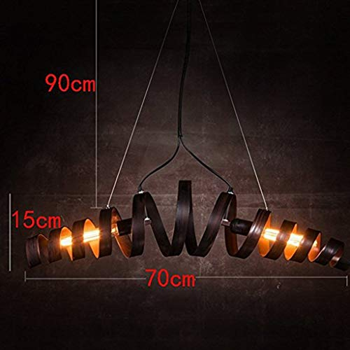 XHX Luces colgantes, araña Retro Bar Iron Light Modern Minimalist Industrial Style...
