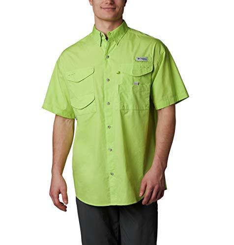 Columbia BoneheadTM Ss Shirt, BoneheadTM Short Sleeve Shirt, Green Glow, 6X -
